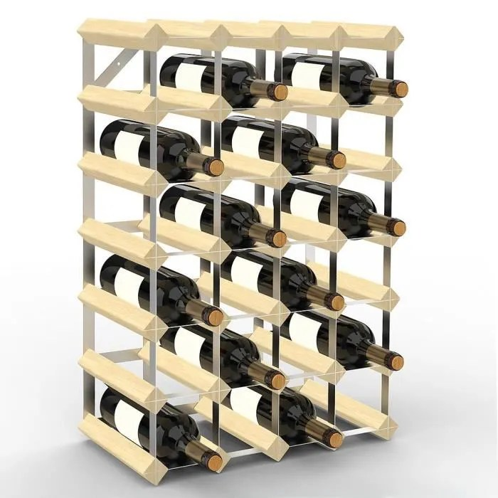 range bouteilles etagere a vin 30 bottles 61 2 x 42 x 22 8 cm bois naturel dimensions 61 2 x 42 x 22 8 cm