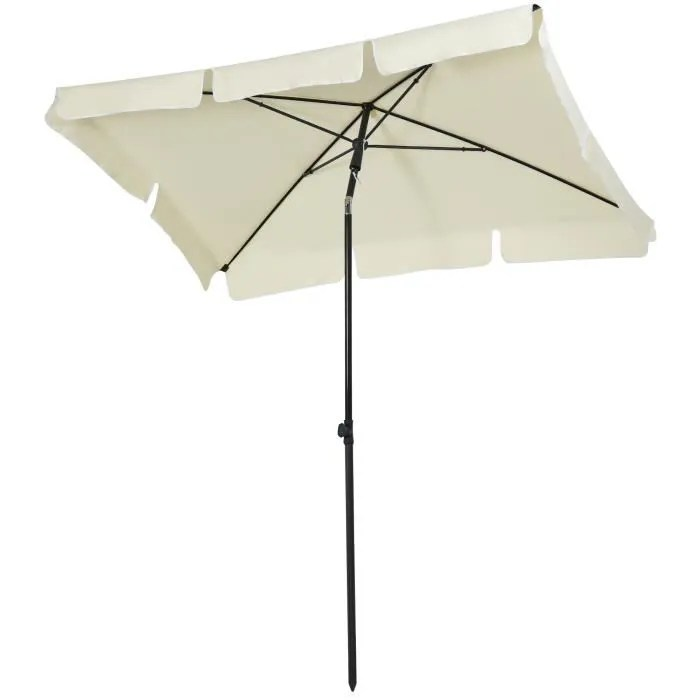 parasol rectangulaire inclinable alu acier polyest