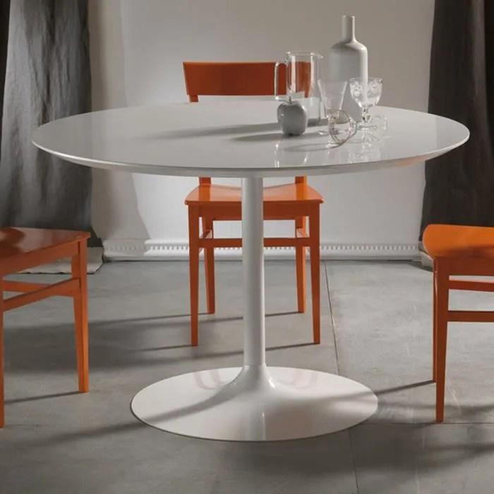 table a manger ronde blanche design