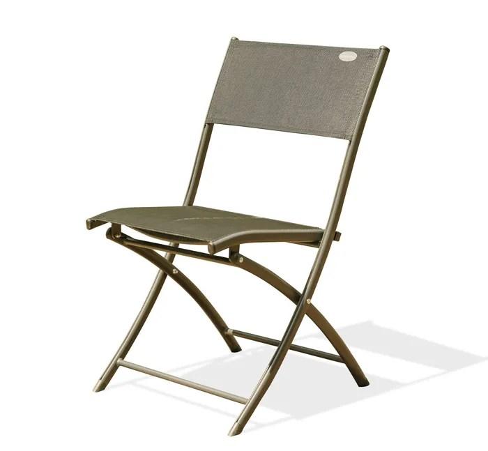 lot de 6 chaises pliantes de jardin aluminium capu