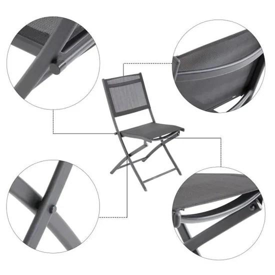 laxllent lot de 2 chaise pliante