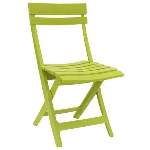 chaise miami grosfillex pliante vert