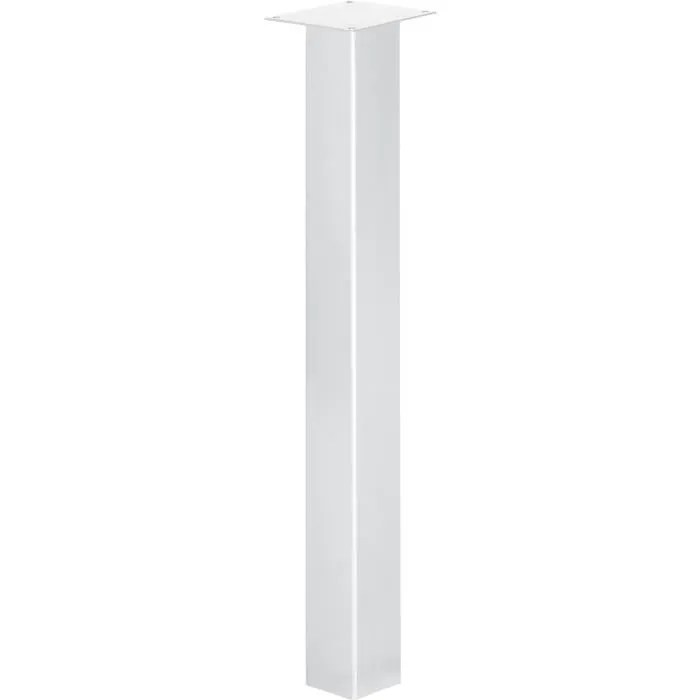 pied carre table haute 90 cm
