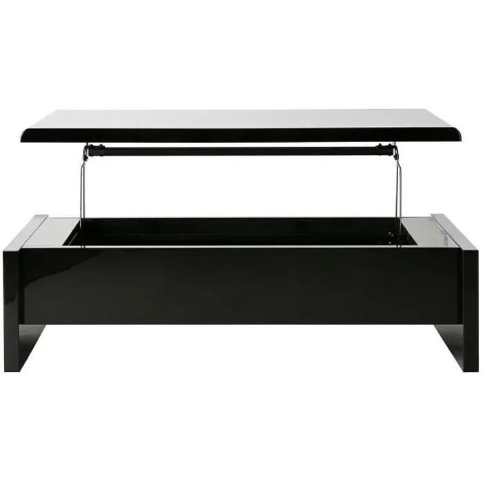 table basse design reglable noire avec rangement