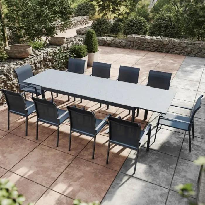 table de jardin extensible aluminium anthracite 20