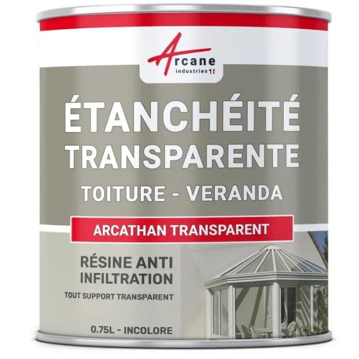 resine etanche transparente toiture transparent 0 75l