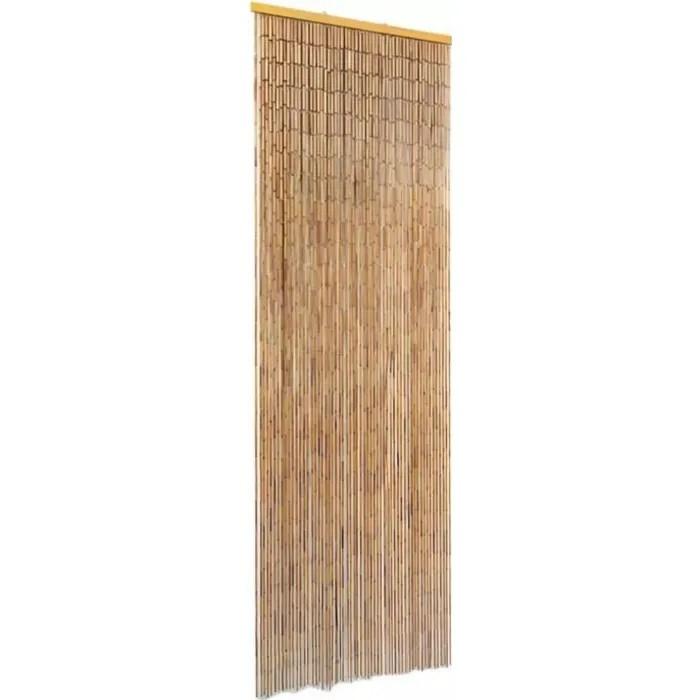 rideau de porte perles bois et bambou 56 x 185 cm