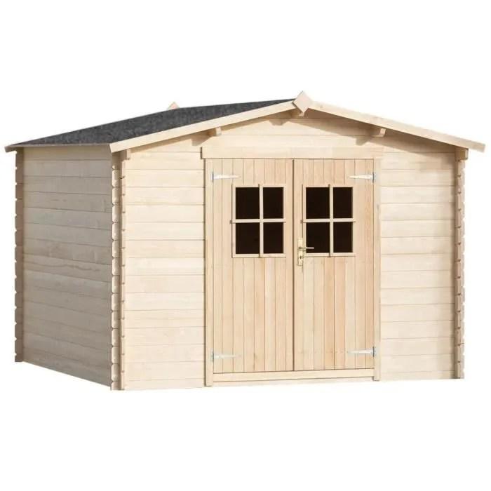 abri de jardin cabane 28 mm 3 x 3 m