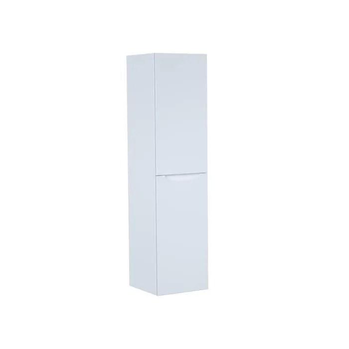 smile colonne de salle de bain l 30 cm blanc laque