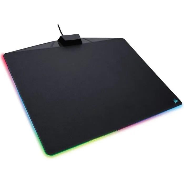 corsair tapis de souris gamer rigide mm800 rgb pol