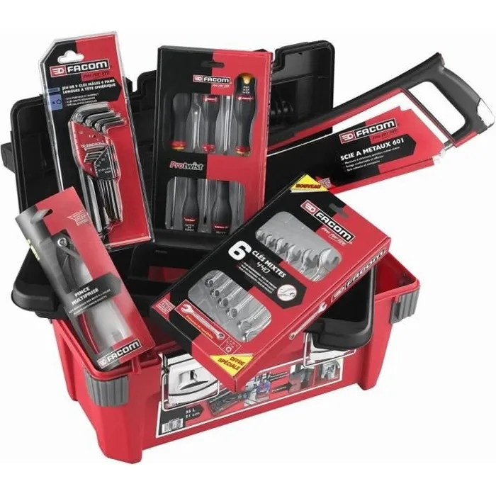 Facom Caisse Polypropylene 22 Outils Achat Vente Coffret Consommable Caisse Polypro 22 Outils Cdiscount