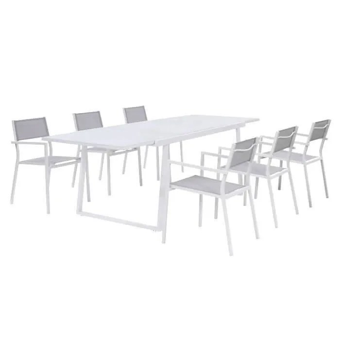 ensemble repas de jardin 6 a 8 personnes table e