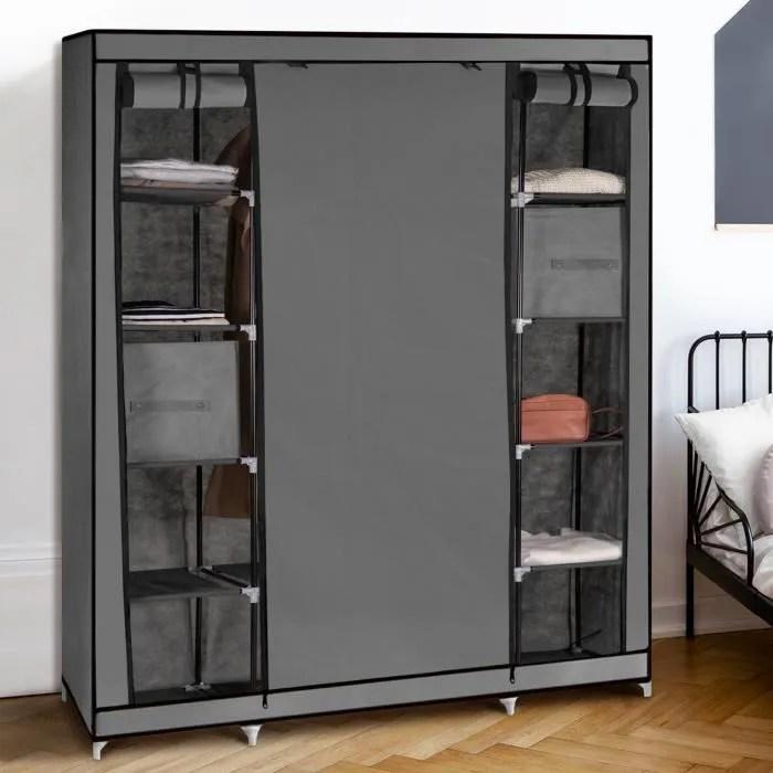 armoire de rangement grise dressing grande capacite xxl
