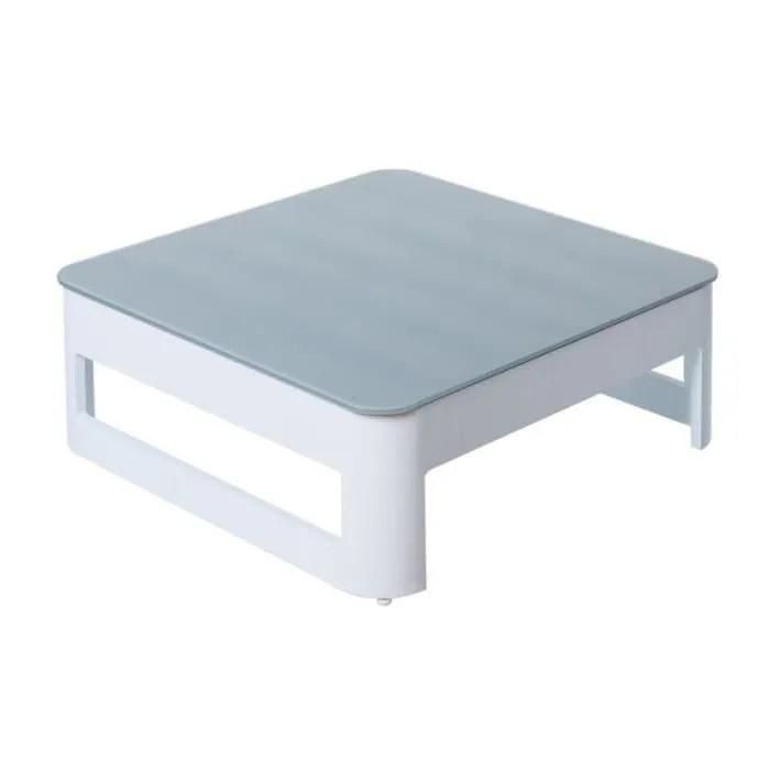 table basse d exterieur aluminium blanc gris nuk