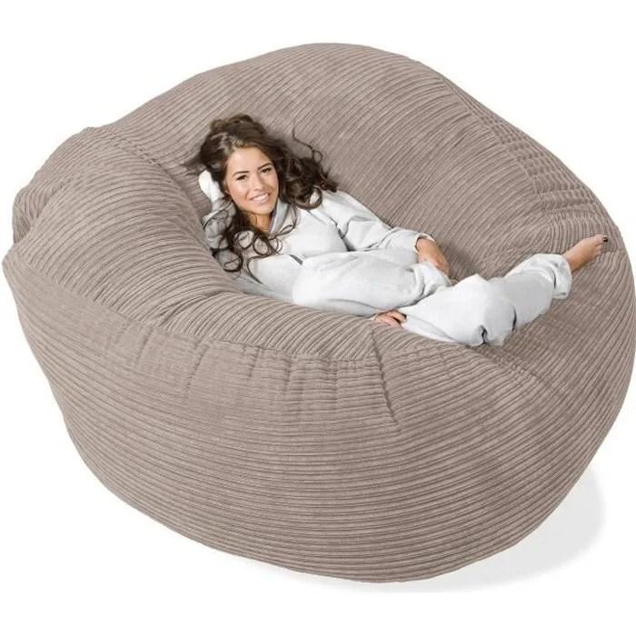 lounge pug canape pouf geant grande mammouth pouf canape gros pouf cotele vison