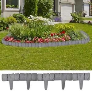 relaxdays bordure de jardin 10 x 250 x