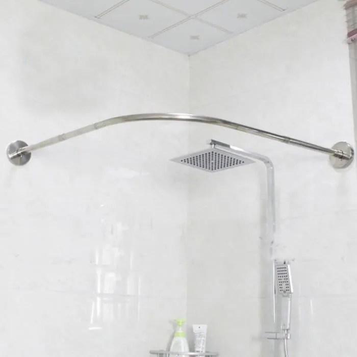 tringle de rideau de douche courbee reglable baignoire et rideaux de douche 180x200