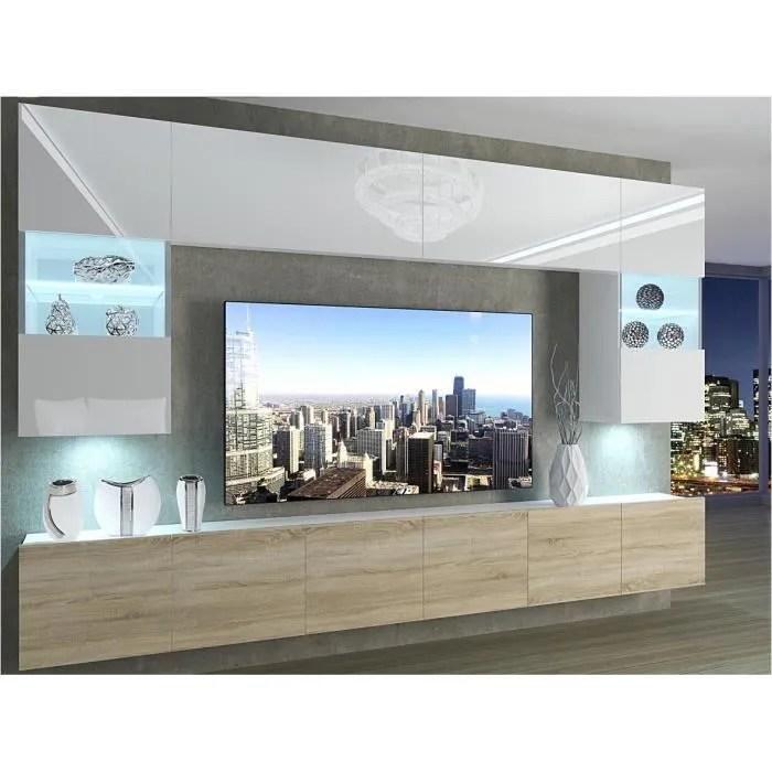 prins ensemble meubles tv unite murale style