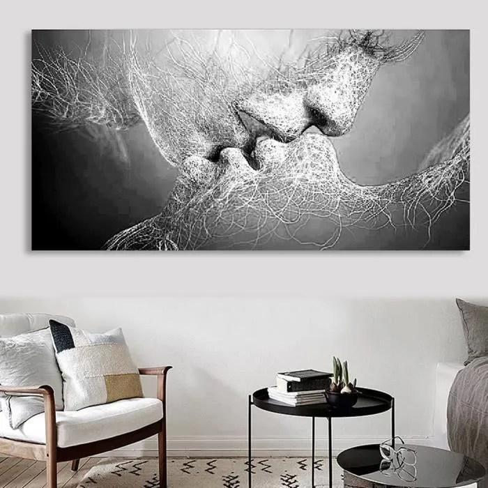 Tableau Abstrait Noir Et Blanc Achat Vente Pas Cher