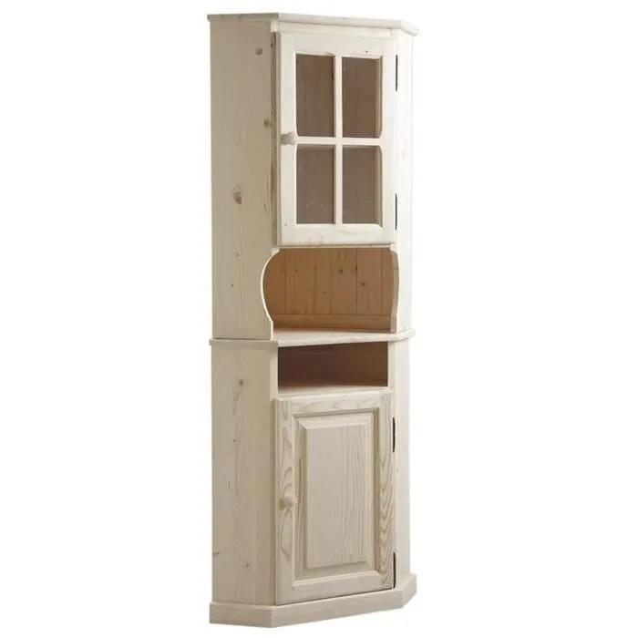 meuble d angle haut en bois brut dim 52 5 x 52