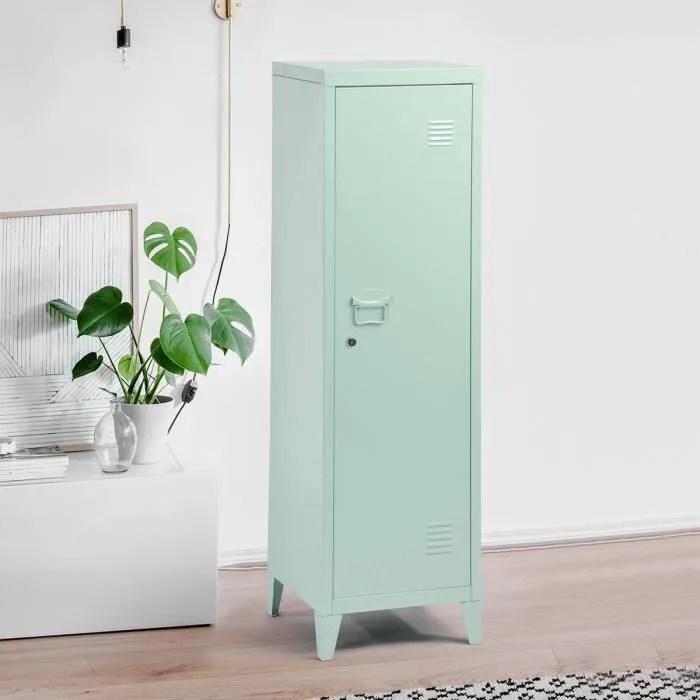 haut rangement armoire colonne vert