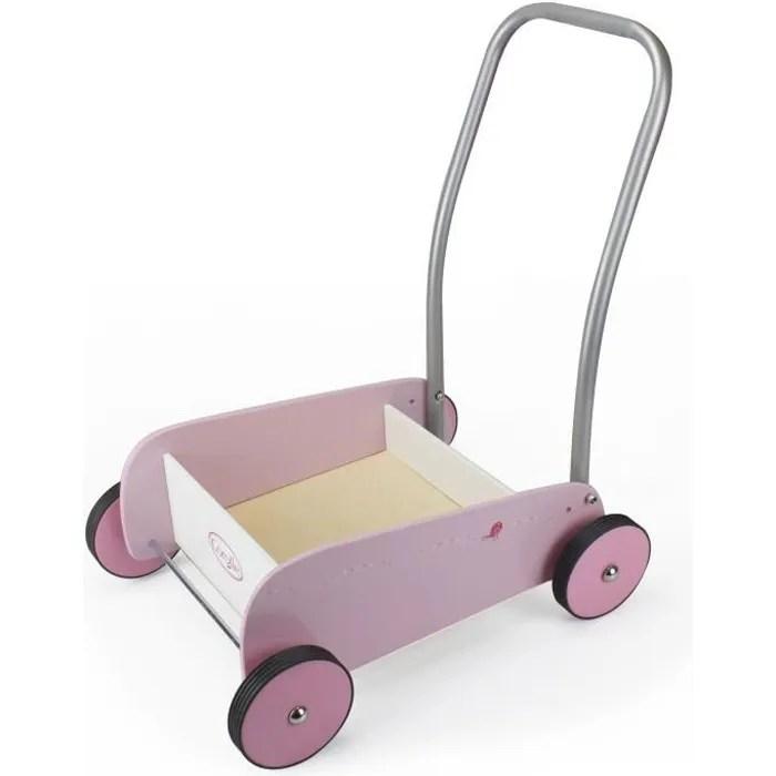 corolle chariot de marche bois et metal