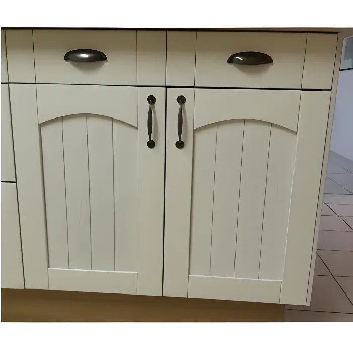 facade de cuisine pour meuble 700x800 2 portes 2 tiroirs nature blanche promo