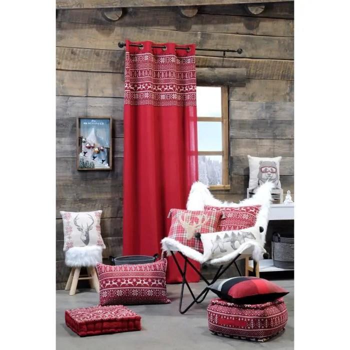 rideau deco montagne valmorel rouge