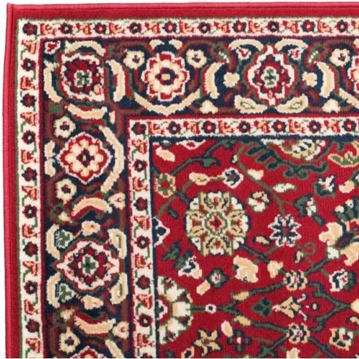 tapis salon oriental design persan rouge beige