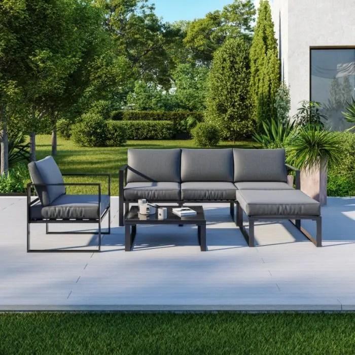 salon de jardin angle design 5 places ensemble