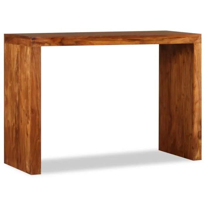 table console console extensible bois massif avec finition en sesham 110x40x76 cm