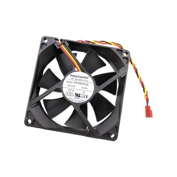 ventilateur foxconn pv902512l 1sf 2j dc 12v 0 16a 3 pin 92x92x25mm 16cm fan