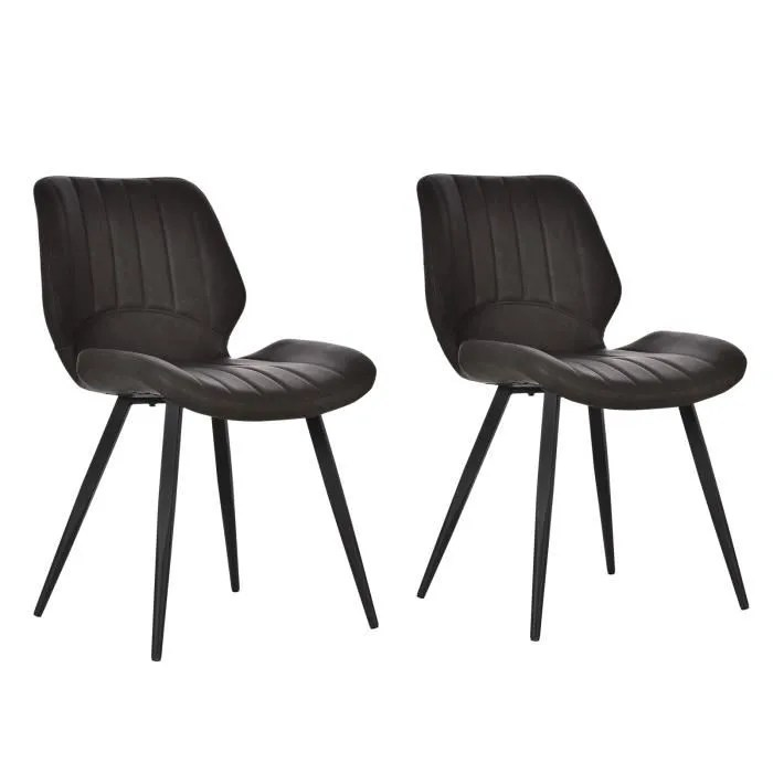 lot de 2 chaises salon design