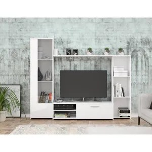 meuble tv blanc mat