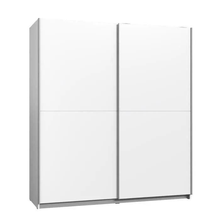ulos armoire de chambre style contemporain blanc l 170 3 cm