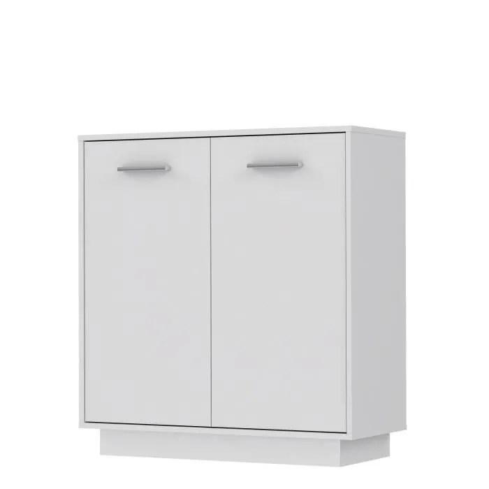pilvi meuble de rangement 2 portes blanc mat l