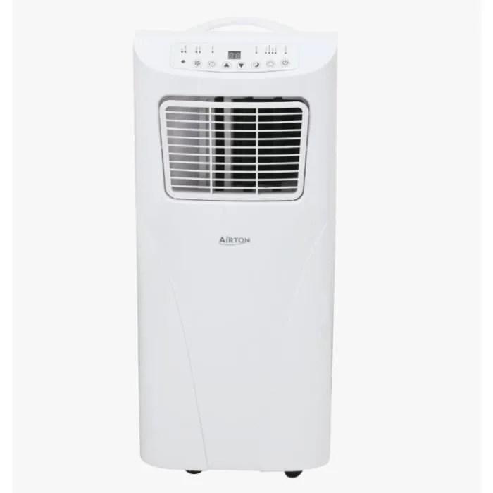 airton climatiseur mobile reversible 2100w 7000 btu froid chaud deshumidificateur convient pour une surface de 20m
