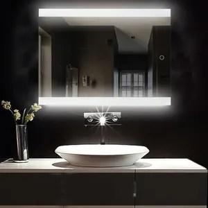Miroir Salle De Bain Sans Eclairage Achat Vente Pas Cher