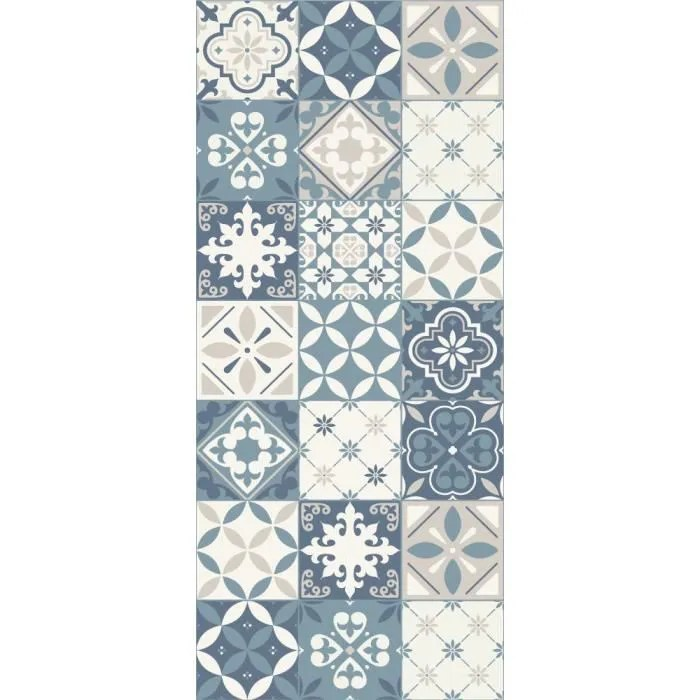 aastory tapis 100 vinyle motif carreaux de cime