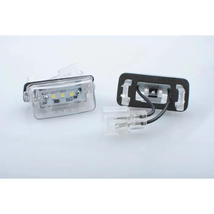 kit eclairage de plaque led blanc peugeot 206 206 207 407 406 306 307 308 5008