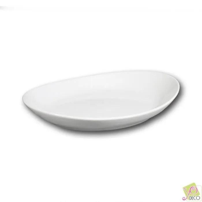 assiette gondole porcelaine blanche l 26 cm tivoli