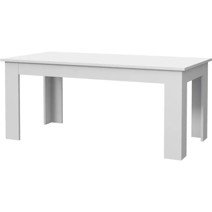 table laque blanc