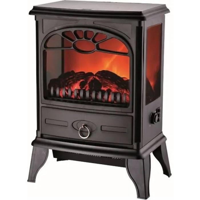 cheminee electrique vision 3d 1800w effet flammes