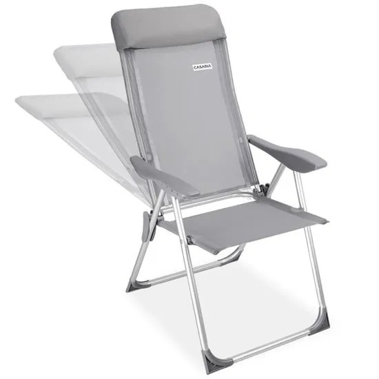 4x chaises de jardin pliante aluminium 60 x109cm