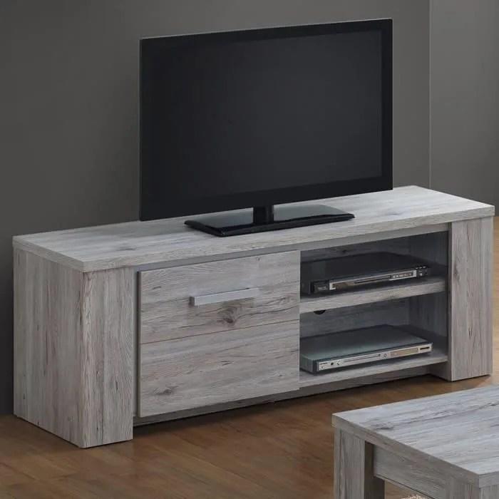 banc tv 145 cm pas cher contemporain couleur chene