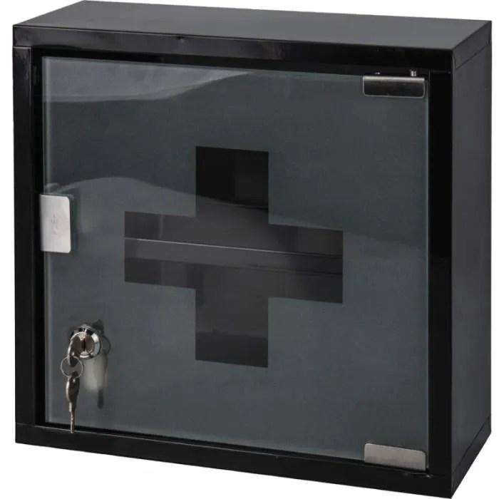 armoire a pharmacie noir ou blanc