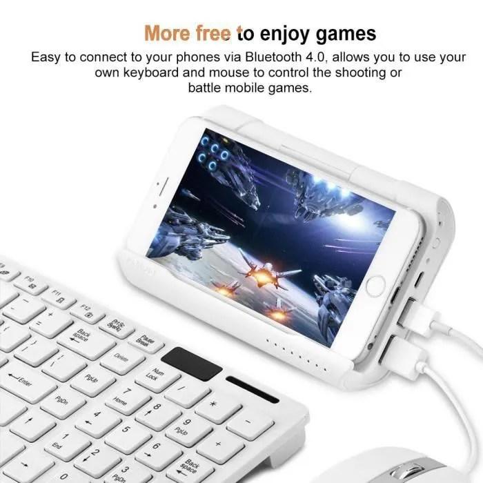 battledock souris et clavier convertisseur jeux mobiles sans fil portable pour android ios tablette pubg controleur de jeu