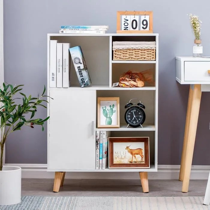 etagere bibliotheque blanc meuble de rangement 6