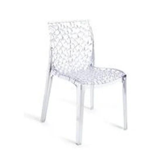 chaise transparente design gruyere lot de 2
