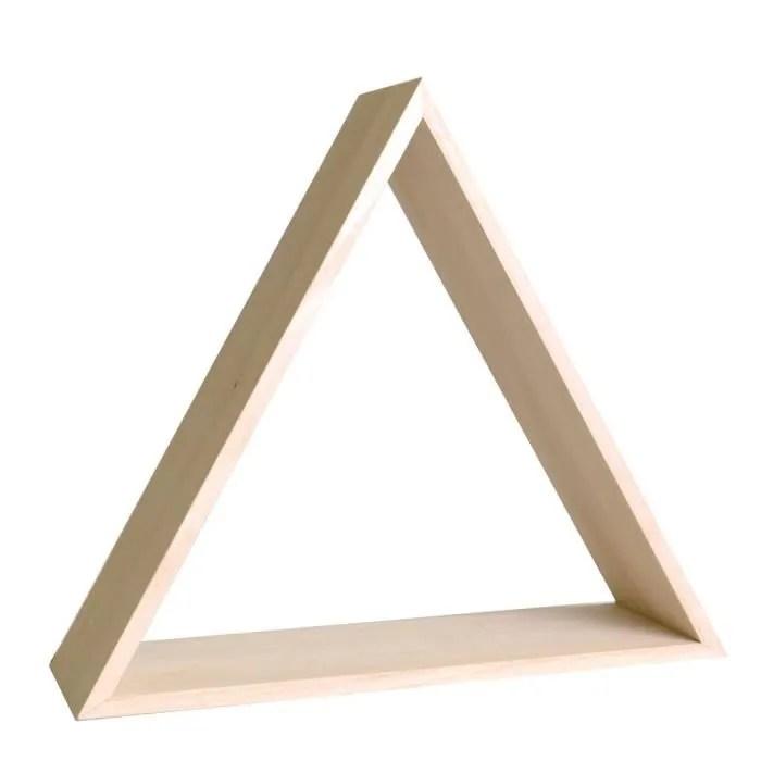 etagere triangle en bois a customiser meuble rangement